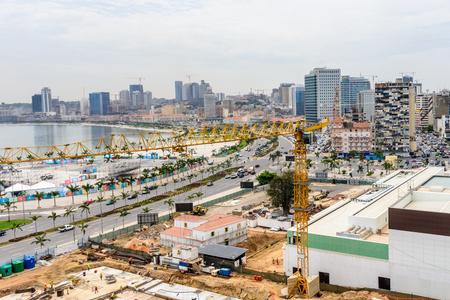 LUANDA, ANGOLA - MAR 4, 2013: Panorama of Luanda, formerly named Sao Paulo da Assuncao de Loanda, is the capital and largest city of Angola. Luanda is both Angolas chief seaport and its administrative center.