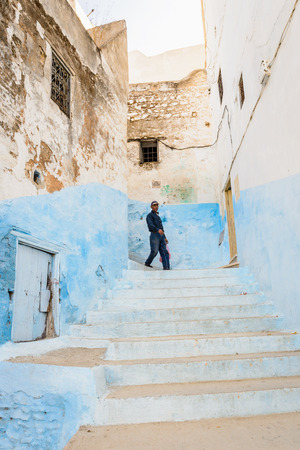 MOULAY IDRISS - SEP 9, 2015: Unidentified people of Moulay Idriss, the holy town in Morocco, named after Moulay Idriss I arrived in 789 bringing the religion of Islam Editorial