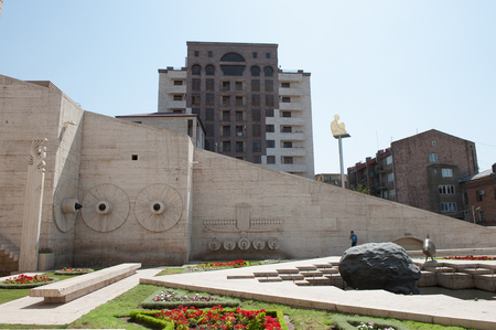 YEREVAN, ARMENIA - JULY 16, 2014: Yerevan Cascade, a giant stairway in Yerevan, Armenia. One of the most important sights in Yerevan completed in 1980