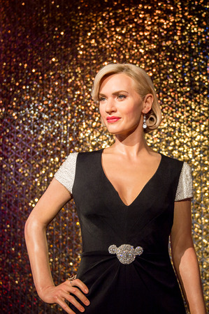 SHANGHAI, CHINA - APR 3, 2016: Kate Winslet at the Shanghai Madame Tussauds wax museum. Marie Tussaud was born as Marie Grosholtz in 1761
