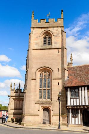 STRATFORD UPON AVON, ENGLAND - JULY 10, 2016: Architecture of Stratford Upon Avon, a market town in Warwickshire, England Editorial
