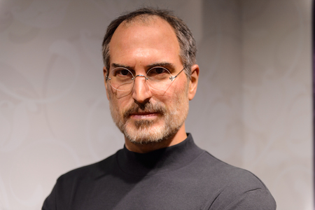 BEIJING, CHINA - APR 6, 2016: Steve Jobs at Beijing Madame Tussauds wax museum. Marie Tussaud was born as Marie Grosholtz in 1761 Reklamní fotografie - 103811612