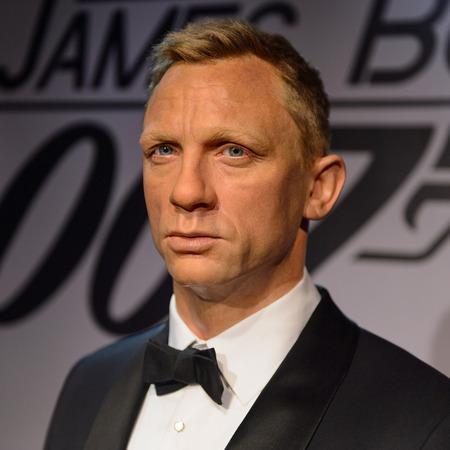 BEIJING, CHINA - APR 6, 2016: Daniel Craig as 007 agent James Bond,  Beijing Madame Tussauds wax museum. Marie Tussaud was born as Marie Grosholtz in 1761