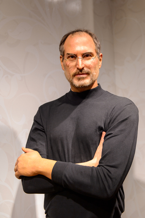 BEIJING, CHINA - APR 6, 2016: Steve Jobs at Beijing Madame Tussauds wax museum. Marie Tussaud was born as Marie Grosholtz in 1761 Editorial