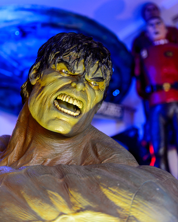 GENOVA, ITALY - MAY 4, 2016: Incredible Hulk,  International cinema museum in Genova, Italy. Museum with collections about the popular Hollywood movies. Editorial