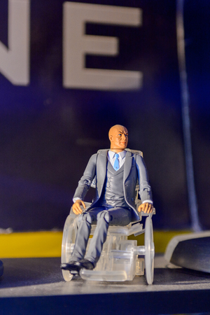 GENOVA, ITALY - MAY 4, 2016: Charles Xavier, X men, International cinema museum in Genova, Italy. Museum with collections about the popular Hollywood movies.