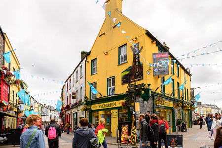 GALWAY, IRELAND - JULY 13, 2016: Touristic area in Galway, Ireland. Galway will be European Capital of Culture in 2020