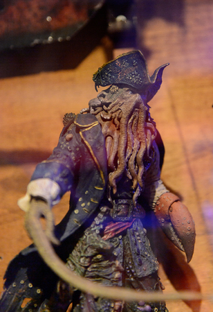 GENOVA, ITALY - MAY 4, 2016: Davy Jones, Pirates of the Caribbean, International cinema museum in Genova, Italy. Museum with collections about the popular Hollywood movies.
