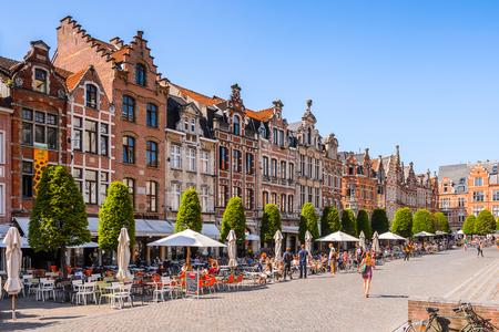 LEUVEN, BELGIUM - JUN 4, 2015: Architecture of Leuven, Belgium. Leuven is the capital of the province of Flemish Brabant in the Flemish Region, Belgium