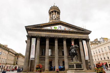 GLASGOW, SCOTLAND - JULY 16, 2016:  Gallery of Modern Art (GoMA) of Glasgow, Scotland. Glasgow is the largest city in Scotland
