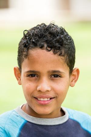 SANAA, YEMEN - JAN 11, 2014: Unidentified Yemeni boy in the street in Sanaa. Children of Yemen grow up without education Editorial