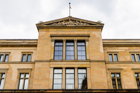 BERLIN, GERMANY - APR 30, 2015: Museum Island which includes Alte Nationalgalerie (Old National Gallery), Altes museum (Old museum), Bode, Pergamon, Neues museum (New museum). UNESCO World Heritage Editorial