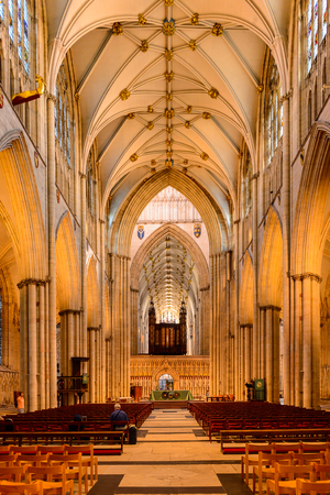 YORK, ENGLAND - july 19, 2016: York Minster (Cathedral and Metropolitical Church of Saint Peter), York, England. Listed Building – Grade I