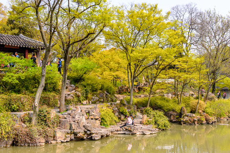 SUZHOU, CHINA - APR 1, 2016: The Humble Administrator's Garden,  a Chinese garden in Suzhou, a UNESCO World Heritage Site Editorial