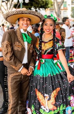 puebla mexico oct 30 2016 unidentified mexican couple in