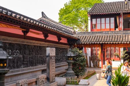 SUZHOU, CHINA - APR 1, 2016: Bao'en Temple complex in Suzhou, Jiangsu Province, China. One of the Buddha temples in China Editorial