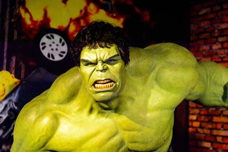 AMSTERDAM, Pays-Bas - 26 octobre 2016: Hulk, Bruce Benner, section Marvel, musée de cire Madame Tussauds à Amsterdam. L'une des attractions touristiques populaires