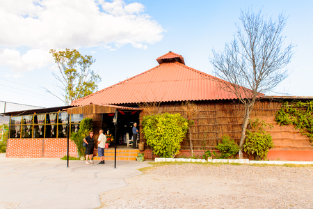 OAXACA, MEXICO - NOV 1, 2016: Entrance to the Restaurant La Choza del Chef in Oaxaca, the place with national Mexican food