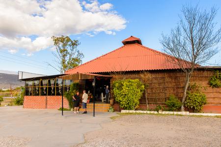 OAXACA, MEXICO - 1 de noviembre de 2016: Entrada al Restaurante La Choza del Chef en Oaxaca, el lugar con comida nacional mexicana