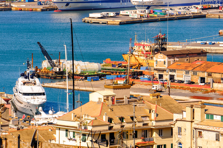 GENOA, ITALY - MAY 4, 2016: Old port of Genoa. Genoa is the capital of Liguria and the sixth largest city in Italy