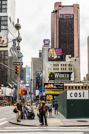 NEW YORK, USA - SEP 22, 2015: Times Square, a major commercial neighborhood in Midtown Manhattan, New York City Редакционное