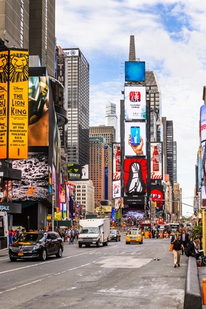 NEW YORK, USA - SEP 22, 2015: Times Square, a major commercial neighborhood in Midtown Manhattan, New York City Sajtókép