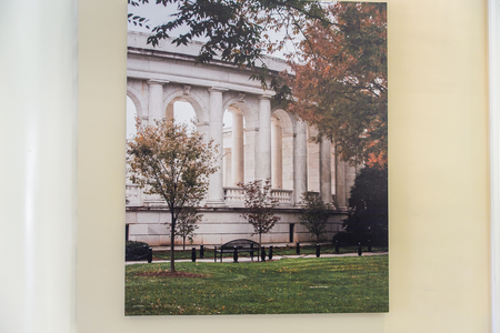 WASHINGTON DC, USA - SEP 24, 2015: Visitor center of Arlington national cemetery. It's a United States military cemetery Editorial