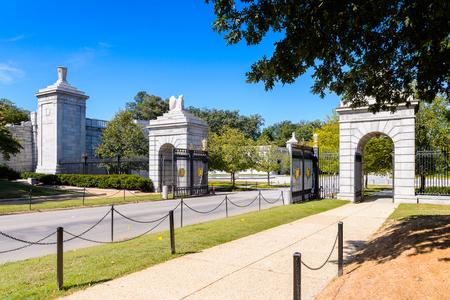 WASHINGTON DC, USA - SEP 24, 2015: Arlington national cemetery. Its a United States military cemetery