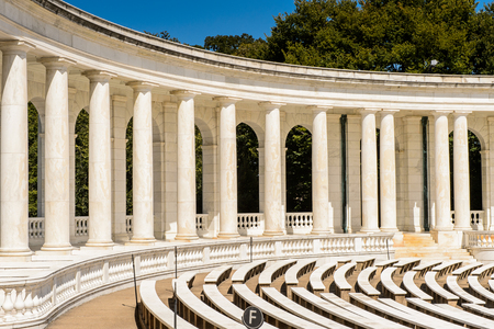 WASHINGTON DC, USA - SEP 24, 2015: Memorial Amphitheater at the Arlington national cemetery. Its a United States military cemetery