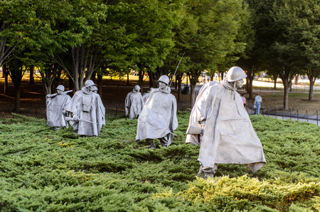 WASHINGTON DC, USA - 24. September 2015: Korean War Veterans Memorial, West Potomac Park, Washington, DC Koreanisch war von 1950 bis 1953. Editorial