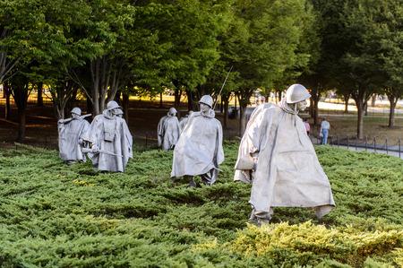 WASHINGTON DC, USA - SEP 24, 2015: Korean War Veterans Memorial, West Potomac Park, Washington, D.C. Korean was from 1950 til 1953.