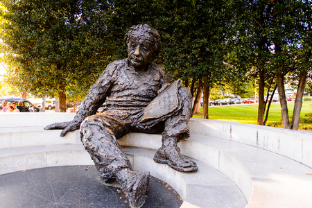 WASHINGTON DC, USA - SEP 24, 2015: Albert Einstein statue in Washington D.C..Albert Einstein was a German-born theoretical physicist