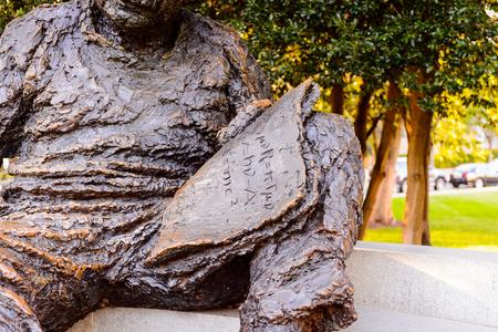 WASHINGTON DC, USA - SEP 24, 2015: Albert Einstein statue in Washington D.C..Albert Einstein was a German-born theoretical physicist