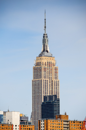 NEW YORK, USA - SEP 25, 2015: Empire State building in Manhattan, New York City, USA. New York is the most populous city in the United States of America Editorial