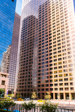 LOS ANGELES - SEP 28, 2015: Architecture of the Downtown of Los Angeles, California. Downtown Los Angeles is the central business district of Los Angeles, California