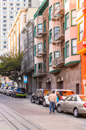 SAN FRANCISCO, USA - OCT 5, 2015: Architecture of San Francisco. San Francisco is the cultural, commercial, and financial center of Northern California