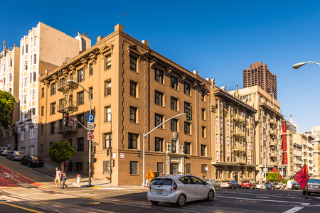 SAN FRANCISCO, USA - OCT 5, 2015: Powell street in San Francisco. San Francisco is the cultural, commercial, and financial center of Northern California Editorial