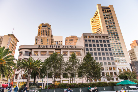 SAN FRANCISCO, USA - OCT 5, 2015: Union Square of San Francisco. San Francisco is the cultural, commercial, and financial center of Northern California Editorial