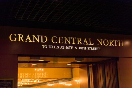 NEW YORK, USA - OCT 8, 2015: Grand Central Terminal (GCT) is a commuter railroad terminal. Its located at  42nd Street and Park Avenue in Midtown Manhattan in New York City