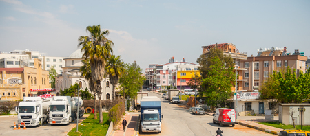 ANTALYA, TURKEY - APR 15, 2015: Architecture of Antalya, Turkey. Antalya is the eighth most populous city in Turkey and a popular touristic destination Editorial