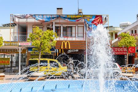 KEMER, TURKEY - APR 16, 2015: McDonalds fast food restaurant in Kemer, Turkey. Kemer a seaside resort on the Mediterranean coast of Turkey, Antalya Province Editorial