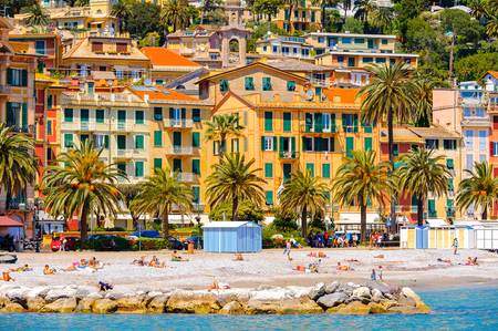 SANTA MARGHERITA LIGURE, ITALY - MAY 4, 2015: Architecture of Santa Margherita Ligure, which is popular touristic destination in summer Editorial