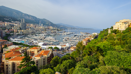 MONACO - JUN 24, 2014: Beautiful landscape of Monaco. Principality of Monaco is one of the richest  and the second smallest country in the world