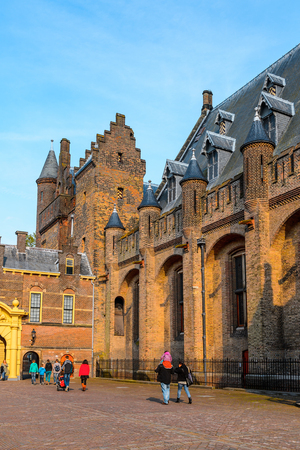 THE HAGUE, NETHERLANDS - MAY 2, 2015: The Ridderzaal in Binnenhof,The Hague,Netherlands. Hague is the capital of the province South Holland