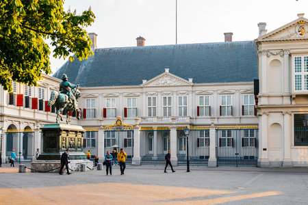 THE HAGUE, NETHERLANDS - MAY 2, 2015: The Noordeinde Palace, the Hague, Netherlands. Hague is the capital of the province South Holland