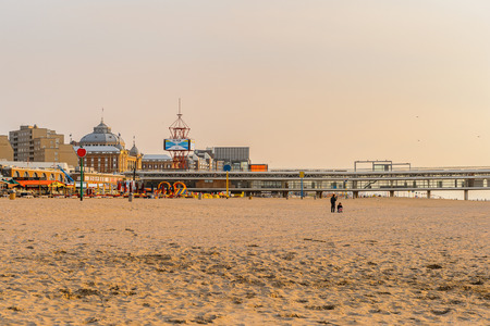 THE HAGUE, NETHERLANDS - MAY 2, 2015: Hotel on the coast of the North Sea in the Hague, Netherlands. Hague is the capital of the province South Holland