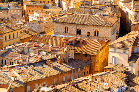 SIENA, ITALY - MAY 6, 2016: Historic centre of Siena. UNESCO a World Heritage Site