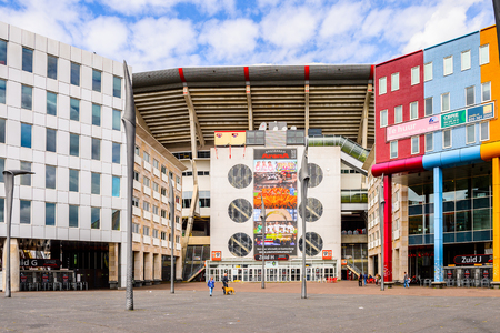 AMSTERDAM, NETHERLANDS - JUNE 1, 2015: Modern Architecture of Amsterdam, Netherlands. Amsterdam is the capital of Netherlands and a popular touristic destination Editorial