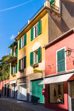PORTOFINO, ITALY - MAR 7, 2015: Architecture of  Portofino, Italy. Portofino is a resort famous for its picturesque harbour