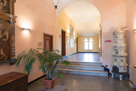 PORTOFINO, ITALY - MAR 7, 2015: Castello Brown in Portofino, Italy. Castello Brown is a house museum built in the 16th century Editorial